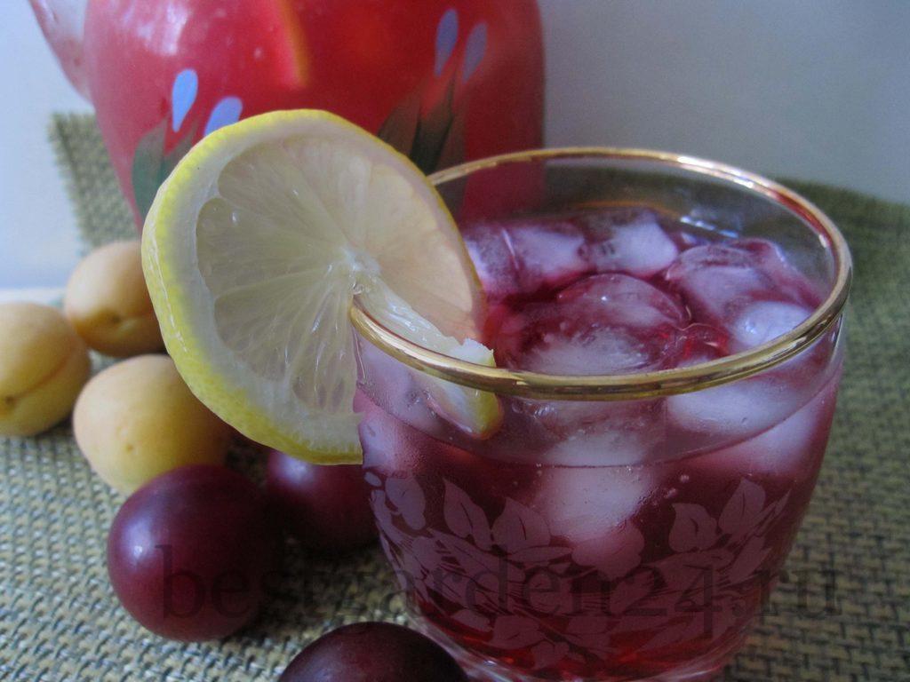 Домашний сливовый лимонад